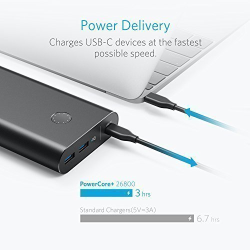 Anker PowerCore+ 26800 PD with 27W PD Portable Charger Bundle for Nintendo  Switch & USB Type-C Laptops (e g  2016 MacBook) Power Delivery Support -