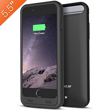 outlet store 7d05b fc28a (Upgraded) iPhone 6s Plus / 6 Plus Battery Case, Trianium Atomic S [Apple  MFI Certified] 4000mAh Portable Charger Ultra Slim Extended Power Bank ...