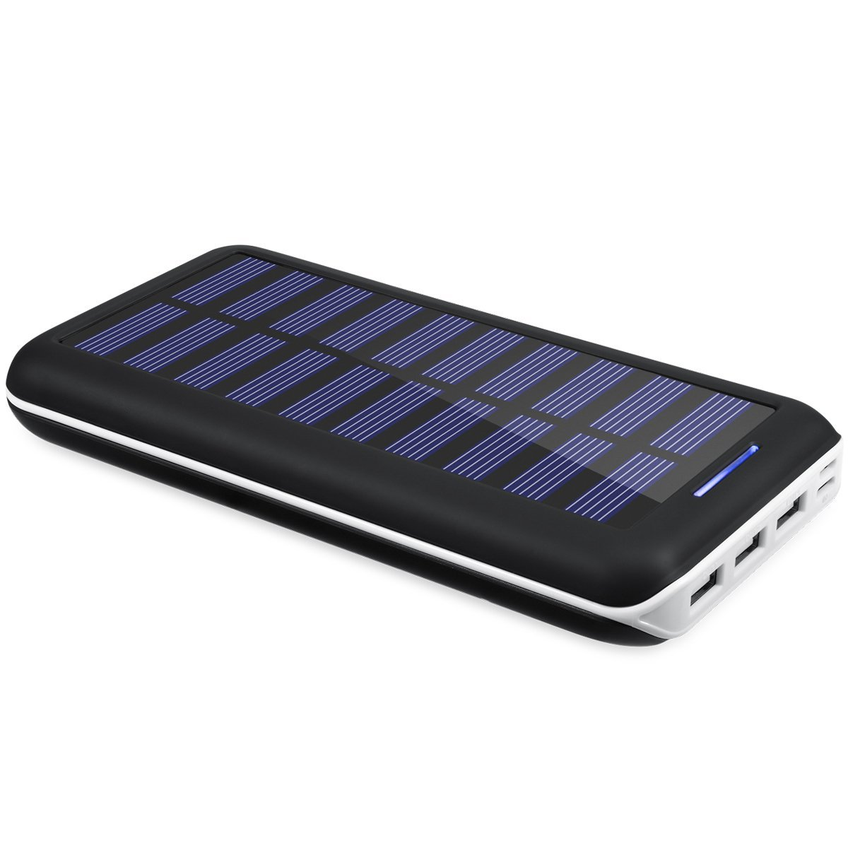 Portable Chargers Kedron 22000 Solar Charger 22000mah External Casan 3usb Samsung Battery Pack 2 Port Input 3 Usb Output Power Banks Or Iphone Ipad And Galaxy