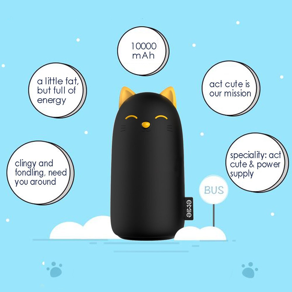 Emie Kitten 10000mah Portable Charger 5v 21a Cartoon Cute Cat Fast Mobile Circuit Boardportable For Phonesmobile Phone Charging Power Bank Usb Battery Pack External Iphone 7 Plus 6 6s 5s