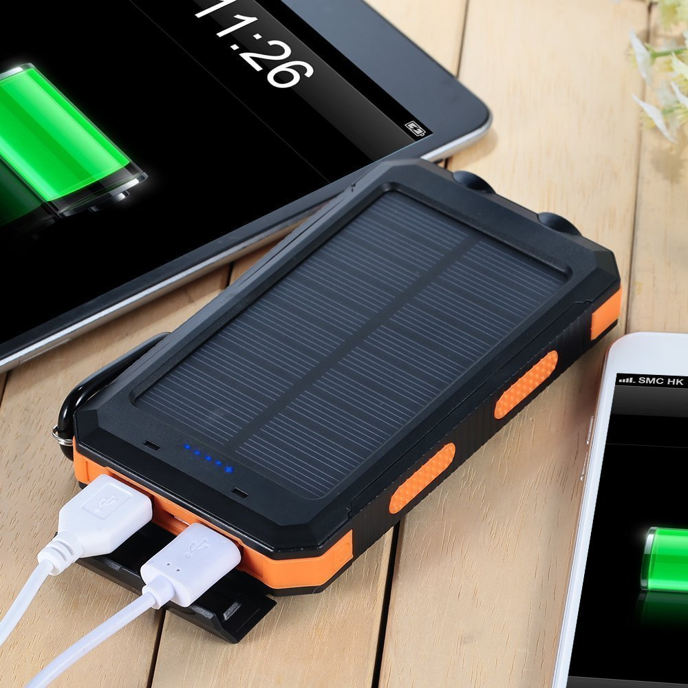 F Dorla 20000mah Power Bank Solar Charger Waterproof